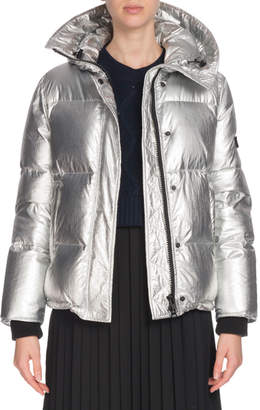 Kenzo Hooded Metallic Down Puffer Jacket
