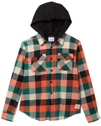 Joe's Jeans Flannel Hooded Shirt (Big Boys)