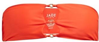 JADE SWIM Ace Bandeau Bikini Top - Womens - Red