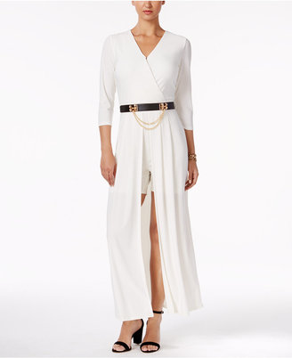Ny Collection Belted Maxi Romper $80 thestylecure.com