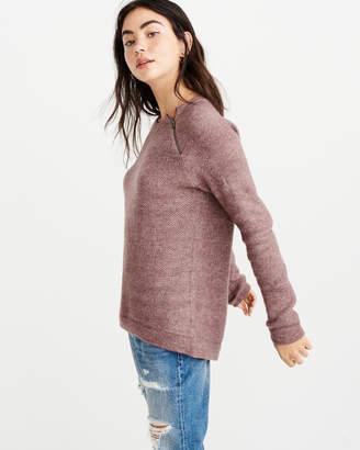 Abercrombie & Fitch Pullover Zipper Crew Sweater