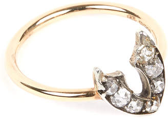 Annina Vogel 9 carat gold and diamond wishbone ring