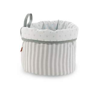B.E. Be! Round Basket 21X17 Cm Rain Blue