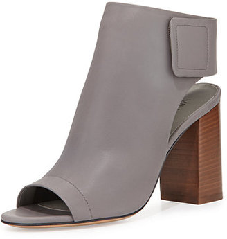 Vince Faye Open-Toe Leather Bootie $395 thestylecure.com