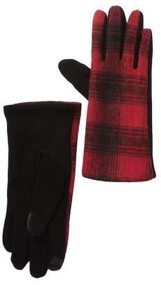 14th & Union Woven Plaid Gloves