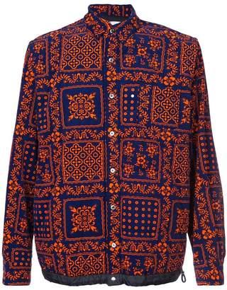 Sacai printed shirt jacket