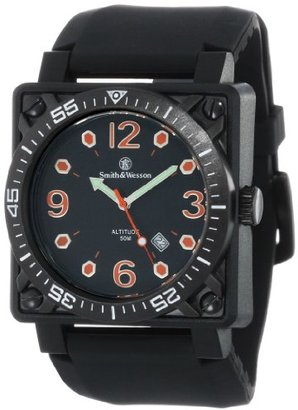 Smith & Wesson Men 's sww-5800-blk Altitude Black DialラバーバンドWatch