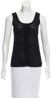 Jean Paul Gaultier Lace Overlay Mesh Top w/ Tags $95 thestylecure.com