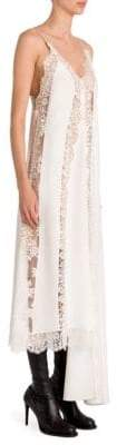 Stella McCartney Asymmetric Silk Lace Slip Dress