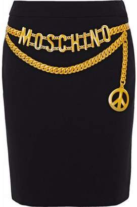Moschino Printed Cady Mini Skirt