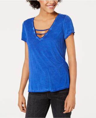 Bar III Strappy V-Neck T-Shirt