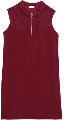 Claudie Pierlot Ramos Corded Lace-Paneled Crepe Mini Dress
