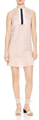 Sandro Kolia Pleated Hem Lace Dress