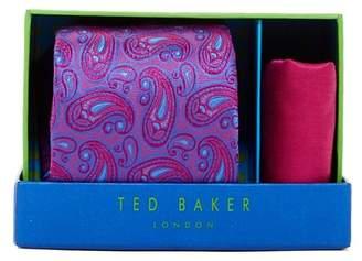 Ted Baker London Peyton Paisley Silk Tie & Pocket Square Set $95 thestylecure.com