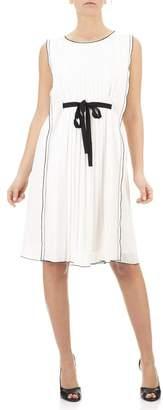 Seventy Georgette White Dress