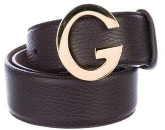 Gucci G Logo Leather Belt
