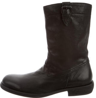 Yohji Yamamoto Leather Mid-Calf Boots w/ Tags $325 thestylecure.com
