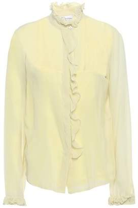 RED Valentino Ruffled Stretch-silk Georgette Blouse