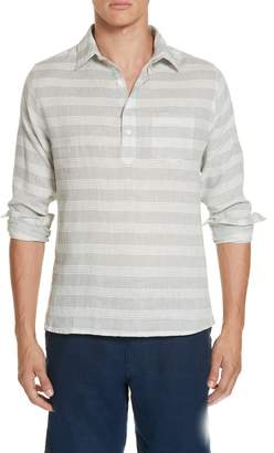 Onia Chambray Stripe Pullover Woven Shirt