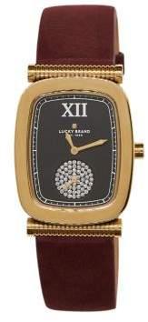Lucky Brand Laurel Rectangular Leather Strap Watch
