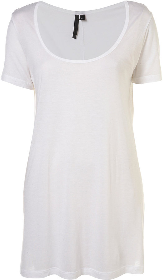 White Scoop Neck Tee By Boutique