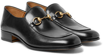 Gucci Mister Horsebit Collapsible-Heel Leather Loafers - Black