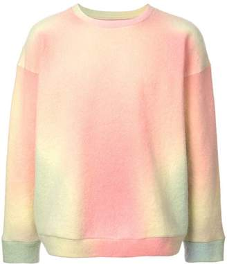 The Elder Statesman felted sweatshirt