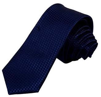 IDEA Blue Checkers Skinny Tie Adults Day Gift Dan Smith