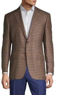 Canali Checkered Notch Jacket