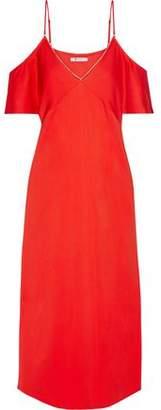 Alexander Wang Cold-Shoulder Embellished Crepe Dress