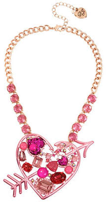 Betsey Johnson Heart and Arrow Pendant Necklace