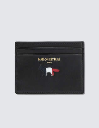 MAISON KITSUNÉ Tricolor Leather Card Holder