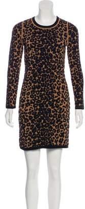 A.L.C. Wool Animal Print Dress