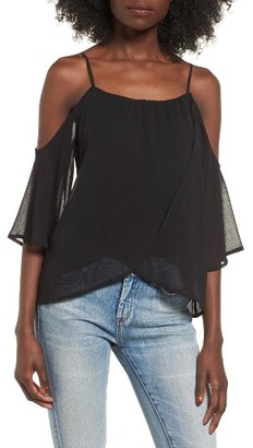 Women's Lush Layered Cold Shoulder Top $39 thestylecure.com