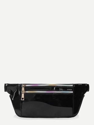 32fb135c86 Shein Double Zipper Detail Bum Bag