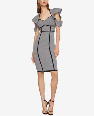 BCBGMAXAZRIA Houndstooth Jacquard Sheath Dress