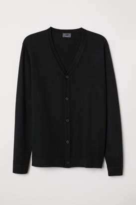 H&M Merino Wool Cardigan - Black