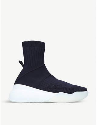 Stella McCartney Loop high-top stretch-knit trainers