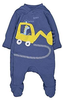 Mothercare Baby Boys Wadded Little Truck Dressing Gown (Dark Blue), (Manufacturer Size: 62)