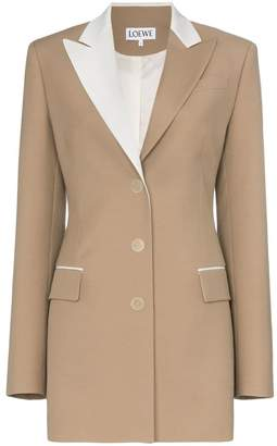 Loewe contrast collar blazer