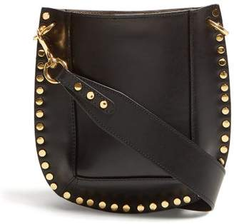 Isabel Marant Nasko Studded Leather Cross Body Bag - Womens - Black