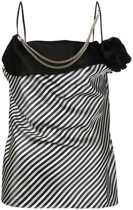 Lanvin embellished striped blouse