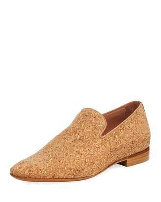 Donald J Pliner Men's Pazano Herringbone Cork Loafer