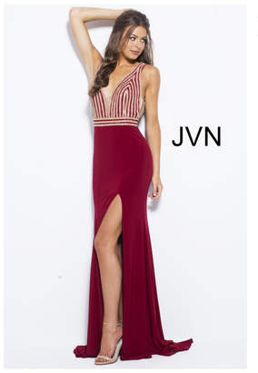 Jovani Sparkly Red Gown