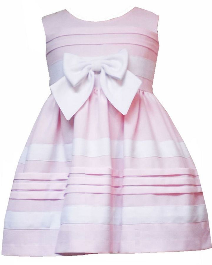 Rare editions toddler linen-look dress