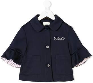 Fendi logo embroidered jacket