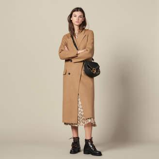Sandro Long Double Faced Wool Coat