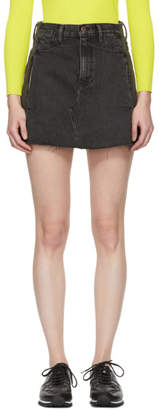 Simon Miller Black Nashua Denim Miniskirt