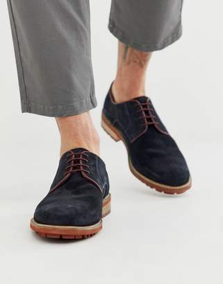Silver Street suede formal shoes in navy