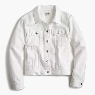 J.Crew Petite denim jacket in white